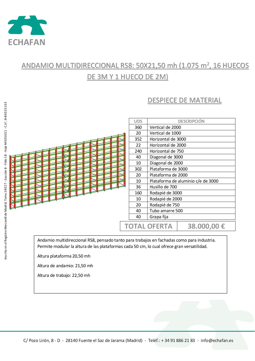 ANDAMIO MULTIDIRECCIONAL 50x21,50 - 38